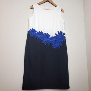 Anne Klein Floral Colour Block Shift Dress